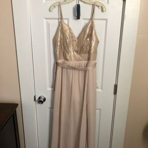 Champagne & Gold Colored Bridesmaids Dress